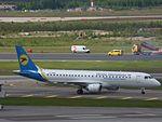 Ukraine International Airlines Embraer 190 UR-EMB at HEL 05JUN2015.JPG