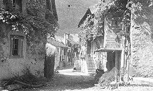 Staro Selo, Kobarid - Image: Ulica v Starem selu 1951
