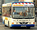 Ulsterbus bus 647 Eastside Park & Ride livery Dennis Dart SLF Wrightbus Crusader YAZ 8647 in Belfast, Northern Ireland 20 March 2009 (2) crop.jpg