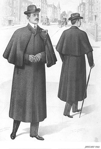 Ulster coat - A 1903 fashion plate of an Ulster