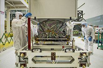 MIRI (Mid-Infrared Instrument) - MIRI is uncrated at Goddard Space Flight Center, 2012