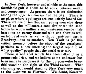Upper ten thousand - A reprint of the paragraph in which Nathaniel Parker Willis coined the term, 1845