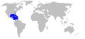 Urobatis jamaicensis rangemap.png