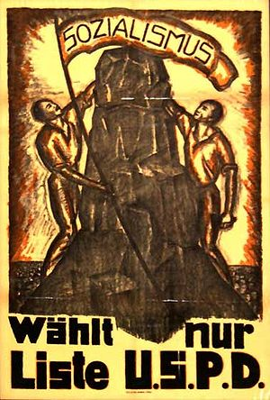 Independent Social Democratic Party of Germany - USPD election poster, 1919