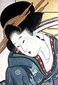 Utamaro (1801–04) Fukagawa no yuki (detail, kumaizasa).jpg