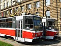 Výlukové tramvaje x13 na Žerotínově náměstí 2010.jpg