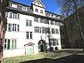 V. Heidelberg Altstadt Campus Universität Heidelberg Haus zum Riesen Hof und Gartenseite Anatomiegarten.JPG