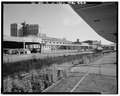 VIEW LOOKING SOUTHWEST FROM PLATFORM - Providence Union Station, Exchange Terrace, Providence, Providence County, RI HABS RI,4-PROV,177-20.tif
