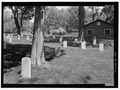 VIEW OF CONFEDERATE HEADSTONES. VIEW TO NORTHWEST. - Confederate Stockade Cemetery, Johnson's Island, Sandusky, Erie County, OH HALS OH-1-12.tif