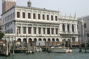 Zecca of Venice - Palazzo della Zecca next to the Biblioteca Marciana and facing the Bacino San Marco