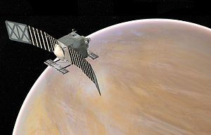 VERITAS (spacecraft) - Veritas at Venus depiction (NASA)