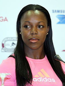 Veronica Campbell-Brown nel 2012.