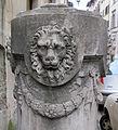 Via ghibellina, palazzo borghese, paracarro marmoreo 03.JPG