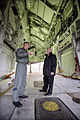 Vice President Dick Cheney stands in the bomb bay of a B-2 Stealth bomber.jpg