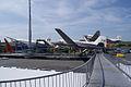 Vickers Viscount 800 Air France Ilyushin Il-14P Crate Bulgarian Air Transport Douglas DC-3 Lufthansa D-CADE SATM 05June2013 (14414040628).jpg