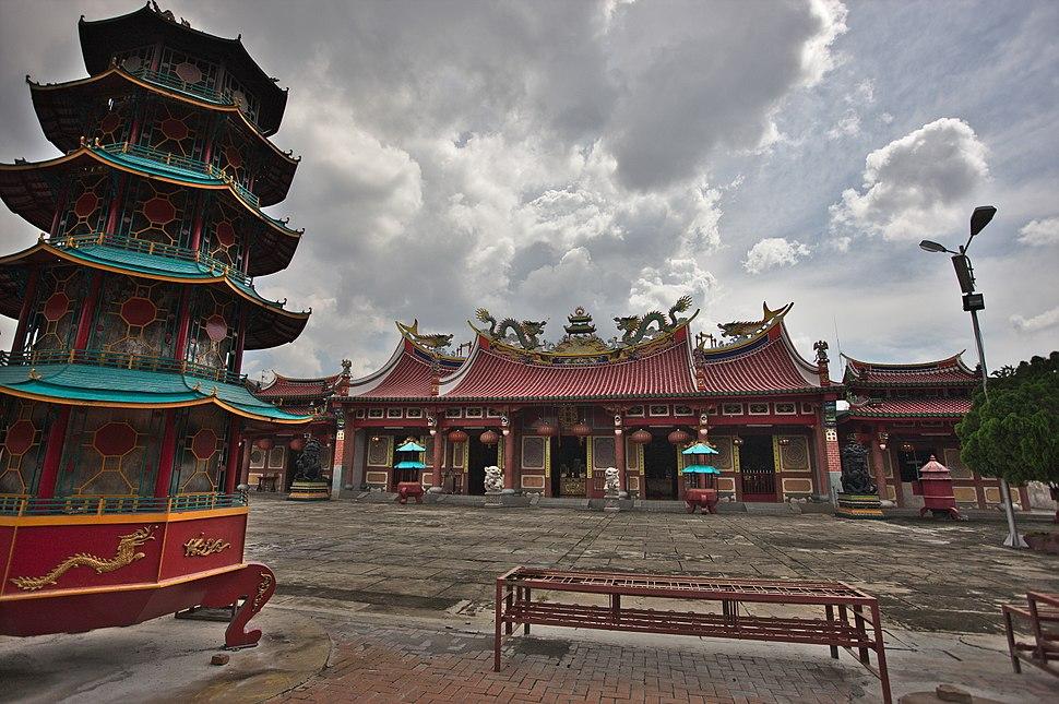 View Toward Main Hall, Vihara Gunung Timur, Medan, Sumatra