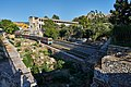 View of the unearthed section of the Ancient Agora of Athens from Adrianou Street on 27 June 2020.jpg