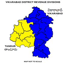 Vikarabad District Revenue divisions.png