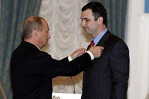 Vladimir Putin and Alexander Pavlov, October 2006.jpg