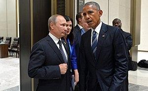 2016 G20 Hangzhou summit - Vladimir Putin and Barack Obama, on 5 September 2016.