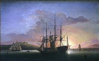 Voiliers à l'aube en rade de Brest