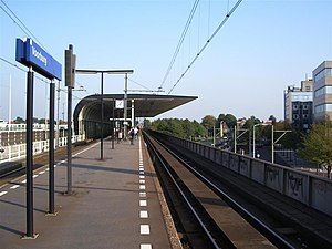 Voorburg railway station - Image: Voorbuerg Station perrons