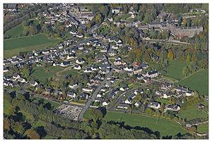 Vue aérienne de la commune.