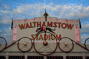 Walthamstow Stadium - The front facade in 2006