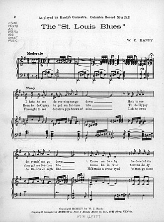 "Blues - Sheet music from ""Saint Louis Blues"" (1914)"