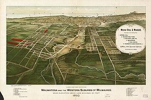 Wauwatosa, Wisconsin - Wauwatosa in 1892