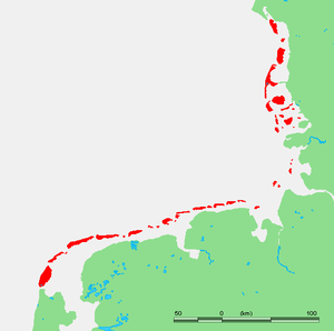 Frisian Islands - The Wadden Islands archipelago, including the Frisian Islands