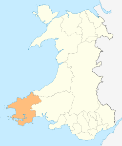 Wales Pembrokeshire locator map.svg