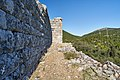 Wall and tower at the fortress of Eleutherae on August 30, 2020.jpg