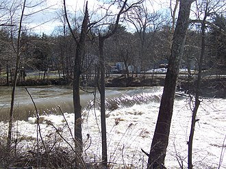 Wappinger Creek - Wappinger Creek at Red Oaks Mill at high flow