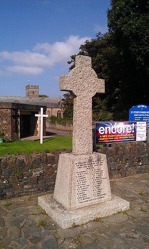 Fremington, Devon - War memorial in front of St Peter's Church