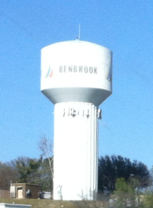 Benbrook, Texas - Image: Water tower in Benbrook, Texas (newer)