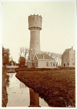 De watertoren in 1912 of 1913