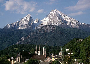 Watzmann - The Watzmann, overlooking the town of Berchtesgaden