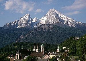 Berchtesgaden Provostry - Berchtesgaden and Watzmann massif