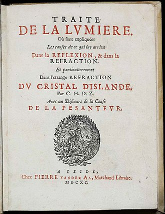Treatise on Light - 1690 edition