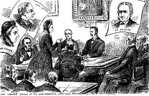 Wynne Edwin Baxter -  Coroner Wynne Baxter conducting the inquest into the murder of Annie Chapman at the Working Lads' Institute, Whitechapel Road