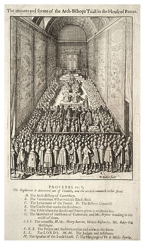 Wenceslas Hollar - Trial of Laud (State 2)