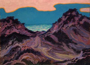"""Wenzel Hablik - """"Sylt, Sonnenuntergang, Dünen"""" (""""Sylt, Sunset, Dunes""""), 1912"""