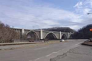 North Versailles Township, Allegheny County, Pennsylvania - George Westinghouse Bridge at the western terminus of North Versailles Township