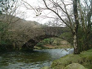 River Esk, Cumbria - The River Esk flows under Wha House Bridge in Upper Eskdale