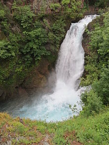 White Drin ('Drini i bardhë) Waterfalls near Peja, Kosovo - June 2013 (5).JPG
