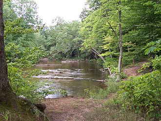 White River (White Lake) - The White River in August 2005