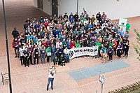 Wikimedia Hackathon Vienna 2017-05-20 group photo 06.jpg