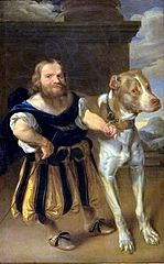The Elector of Saxony's Italian Dwarf, Giachomo Favorchi with Princess Magdalene Sibylle's Dog, Raro