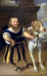 Abraham Wuchters: The Elector of Saxony's Italian Dwarf, Giachomo Favorchi with Princess Magdalene Sibylle's Dog, Raro
